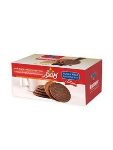 تصویر بیسکوییت رژیمی با سبوس و روکش شکلات